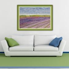 Lavender Fields #5 in situ