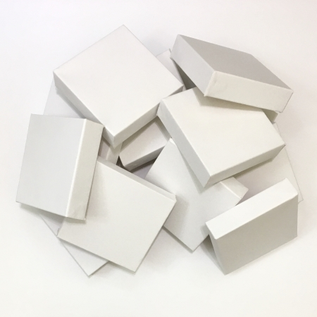 Pile of White canvases