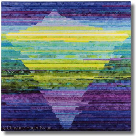"""Full View of the art quilt """"Finding Balance"""""""