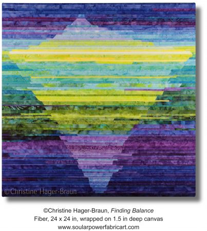 """Photo of the art quilt """"Finding Balance"""""""