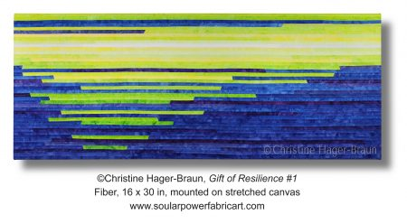 """The art quilt """"Gift of Resilience #1"""""""