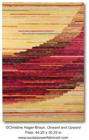 "The art quilt ""Onward and Upward"""