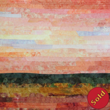 Sunset #2, an abstract landscape in in soft colorss