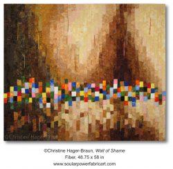 Wall of Shame, an art quilt about PTSD
